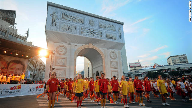 Triumphant Arch - 20th Anniversary of Independence