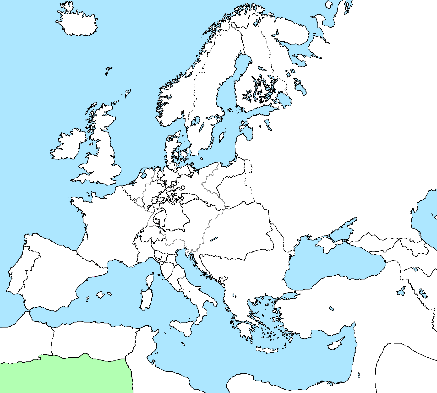 Blank Map Of Europe In 1815
