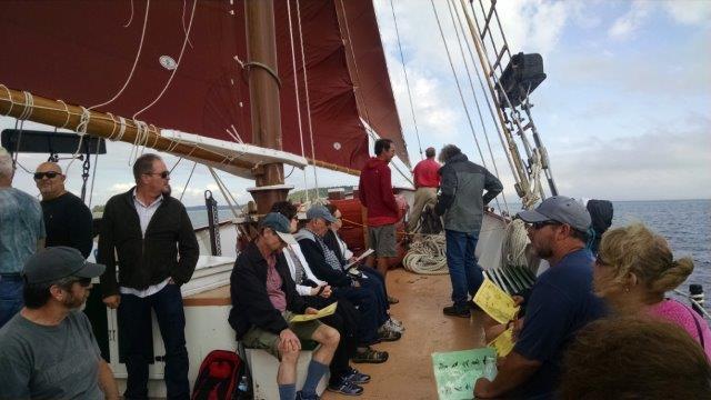topside on the schooner