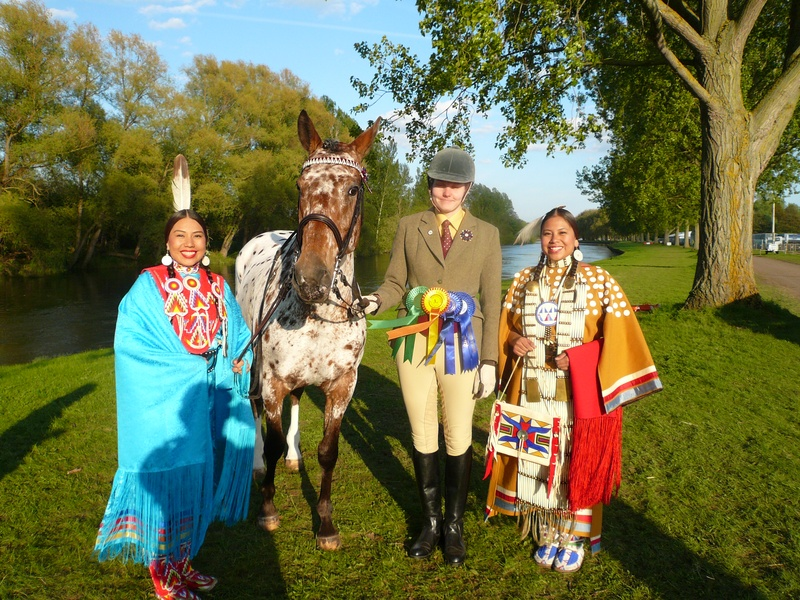 Cachriph Indianola meets the Native Americans in the Jubilee Pageant