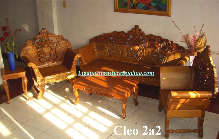 CLEOPATRA SALA SET ANY DESIGN STANDARD SIZE NARRA WOOD  : Cleo202a2 from ligayasfurniture.webs.com size 900 x 572 jpeg 67kB