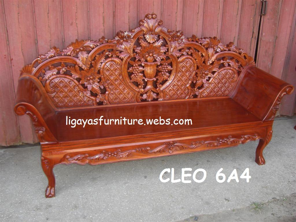 Cleopatra sala set any design standard size narra wood for Sala set furniture