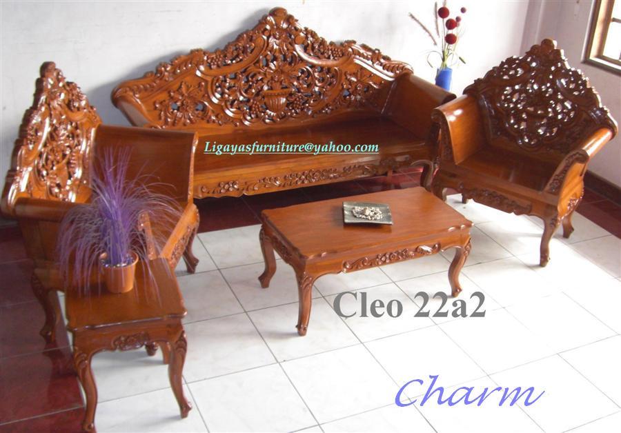 Cleopatra Sala Set Any Design Standard Size Narra Wood