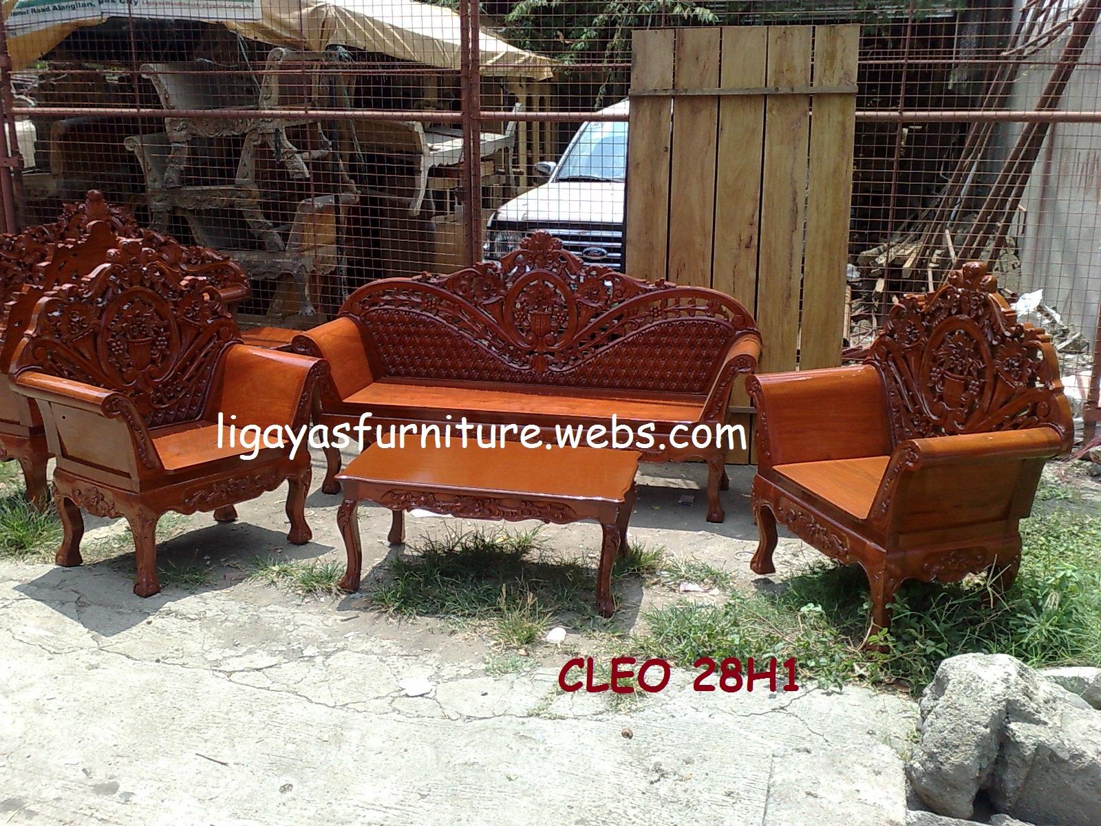 Cleopatra sala set any design standard size narra wood for Door design narra