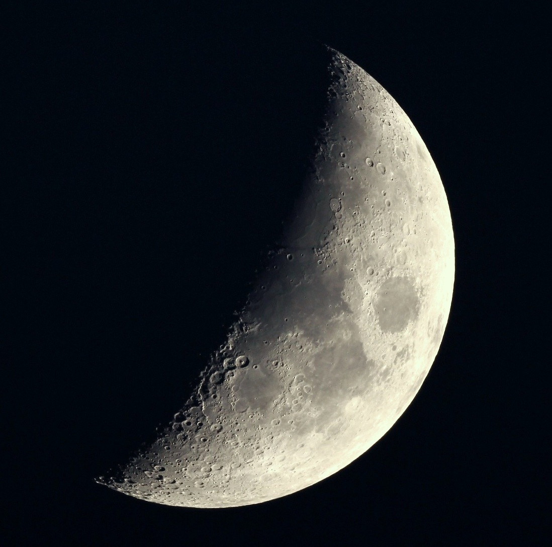 Moon - waxing first quarter - DSLR