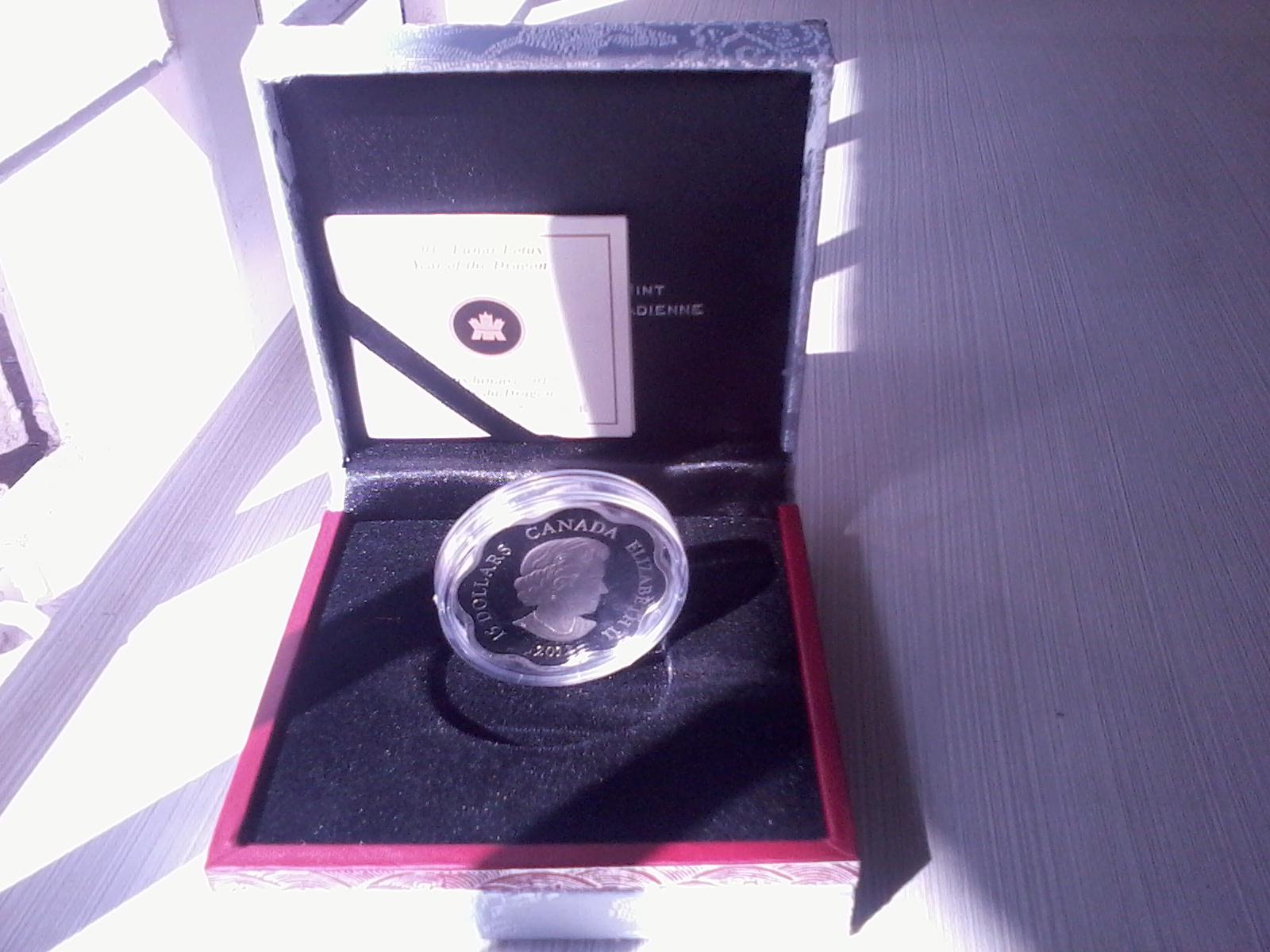 2012 $15 Lunar Lotus Year of the Dragon
