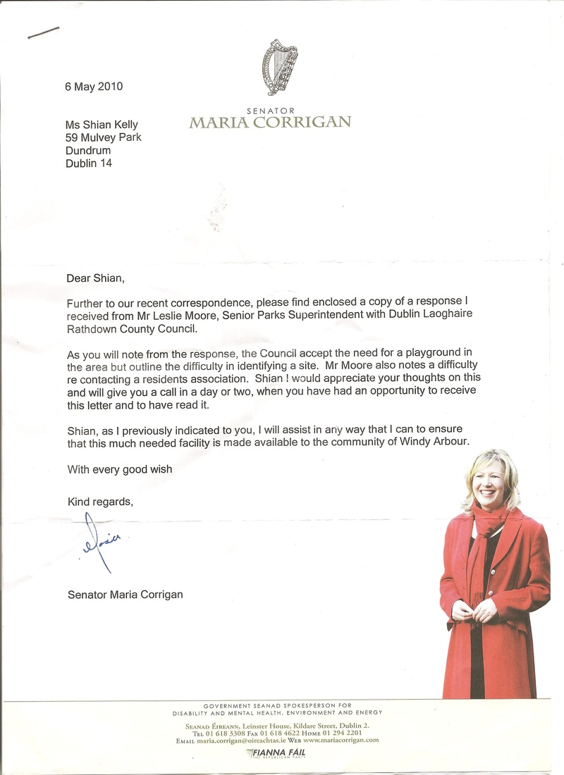 Letter from Senator Maria Corrigan
