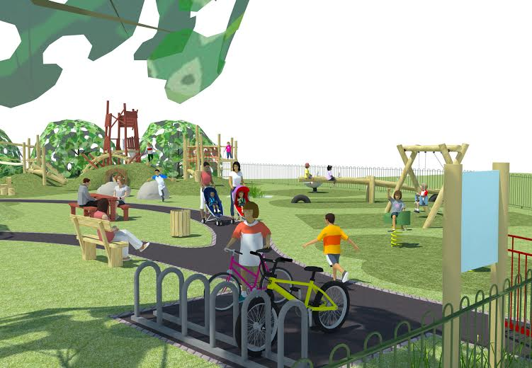 What the new playground will look like