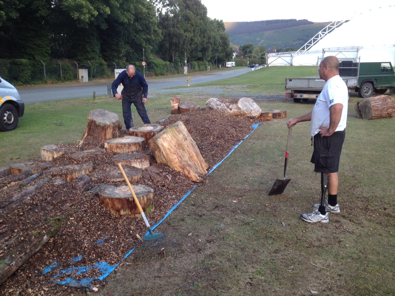 Building the showground section