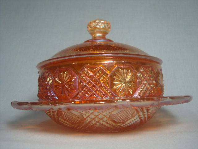 Tartan, butter dish by Brockwitz
