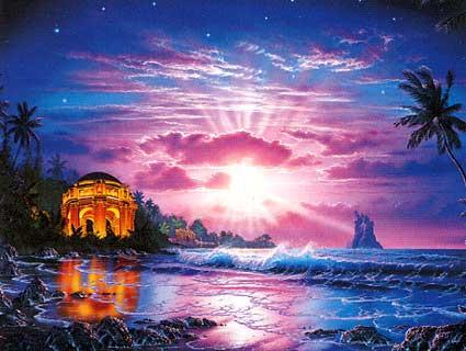 Ah! Um templo de luz, quem sabe?