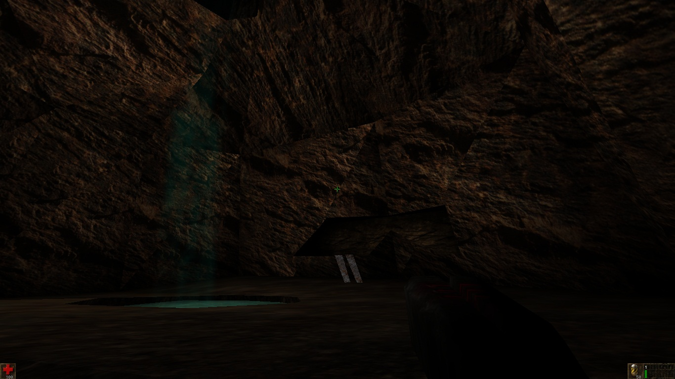 Near the small waterfall (Canyon map)