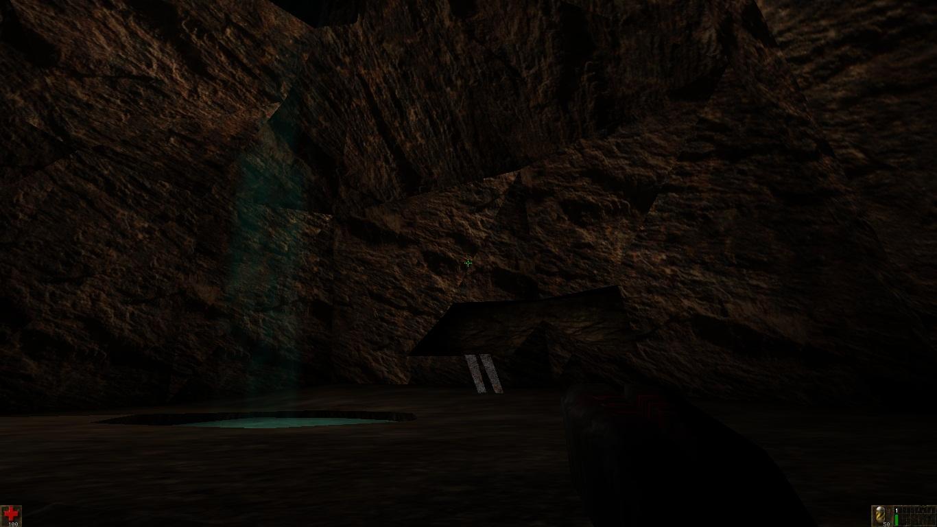 Near the small waterfall (Canyon map)