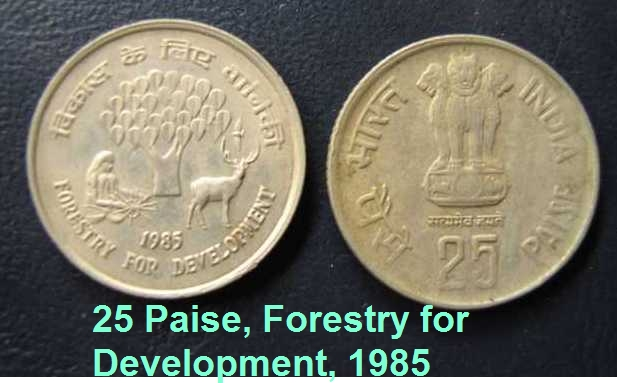 1985, 25 Paise Forestry for Development