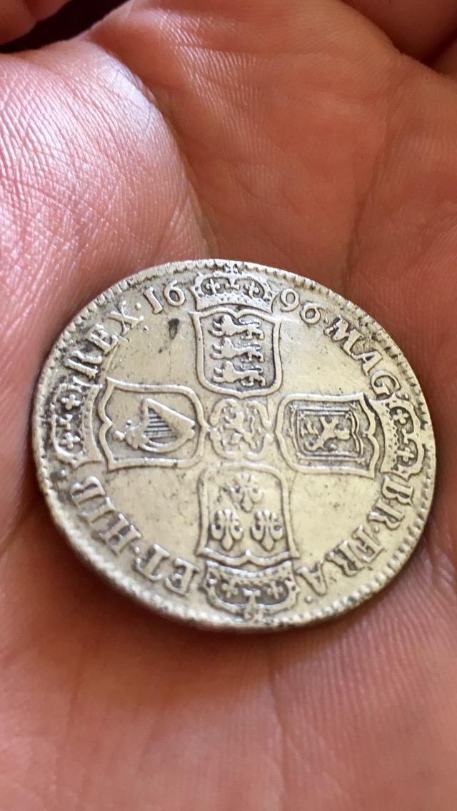 William lll Half Crown 1696