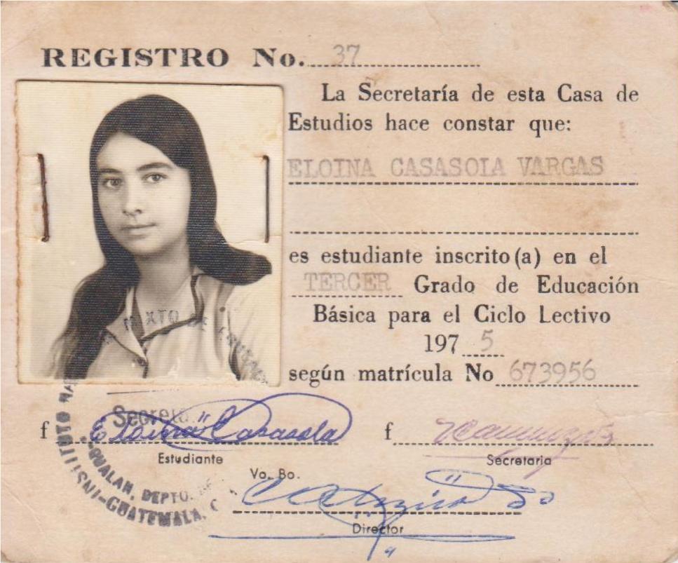 Carnet de Identificacion.