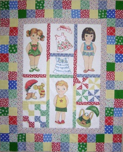 "Newcastle Fabrics ""Baby's First Paper Dolls"""