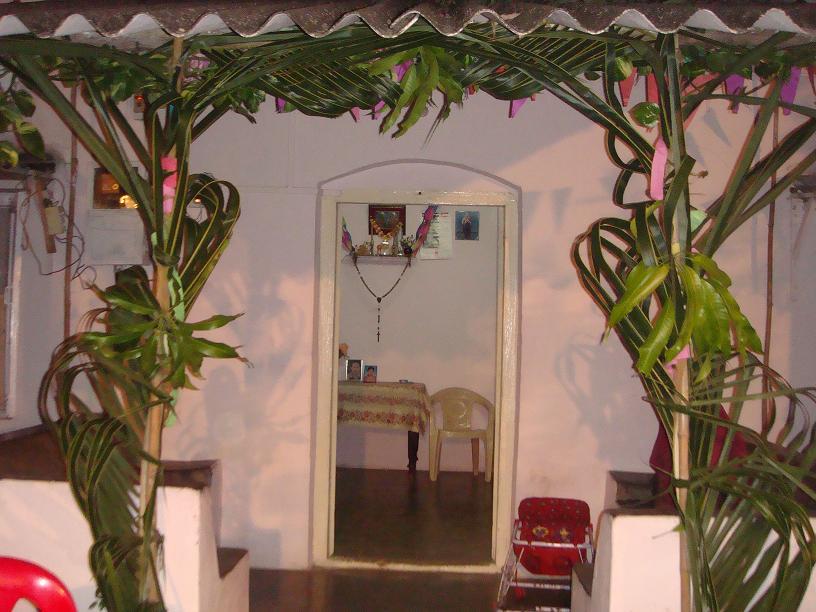 wedding mandav - mango and palm leaves