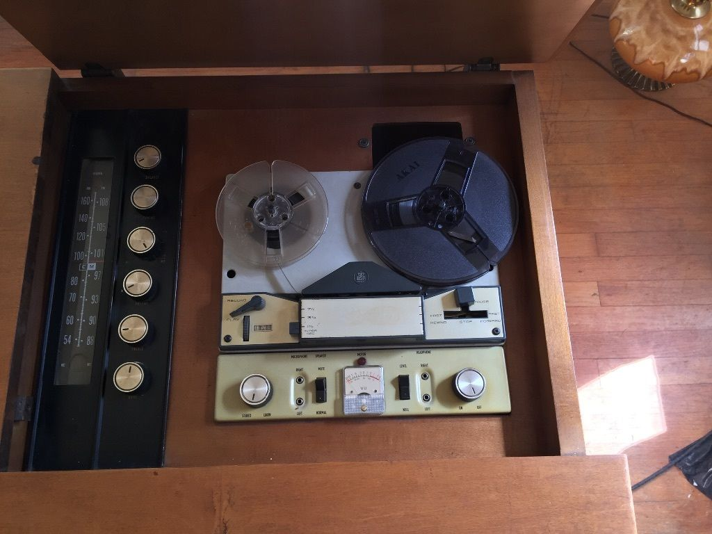 1966 High Fidelity Combination Television, AM/FM Radio Stereo, tape and Curtis Mathes Turntable
