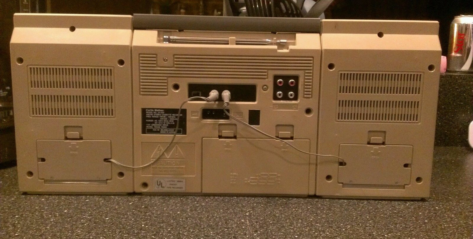 A nice silver face Curtis Mathes JX-500 boom box