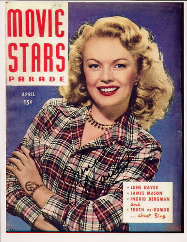 JUNE HAVER did four TV and Radio commercials for Curtis Mathes stereos and televisions in 1961.