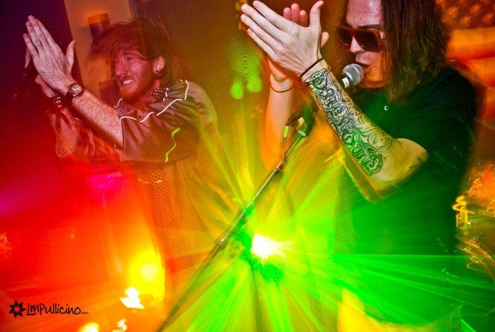 Drew & Josh on stage as Something Complex