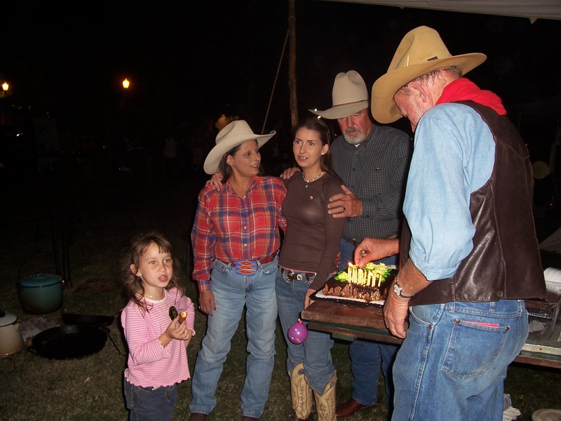 Birthday cake at the chuckwagon.