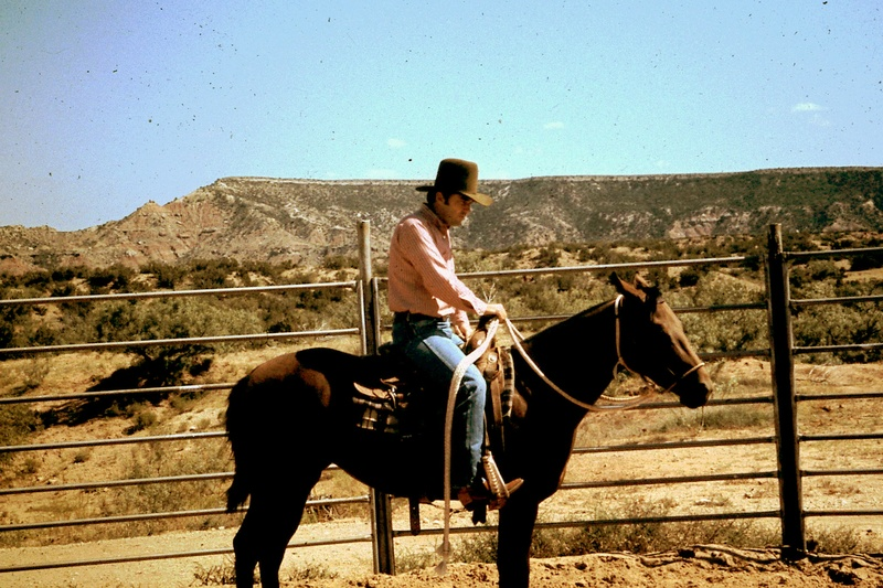 About 1969 on the Miller Ranch near Justiceburg, Texas.