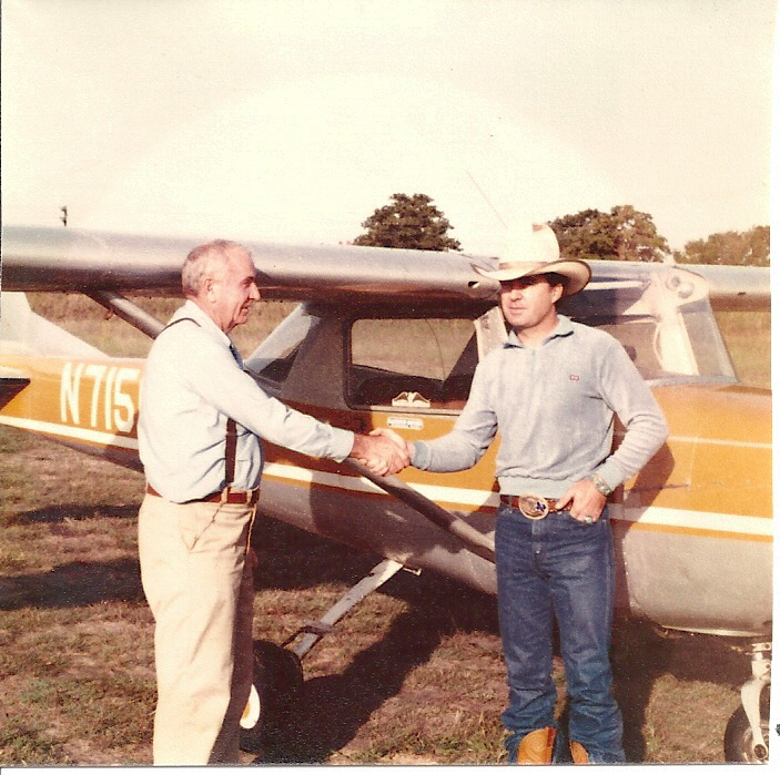 One of my old instructor's, Joe Humphrey & me 1978. Joe was an Ex-Navy Instructor from WWll.