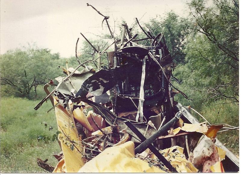 The end of my Stearman 1983.