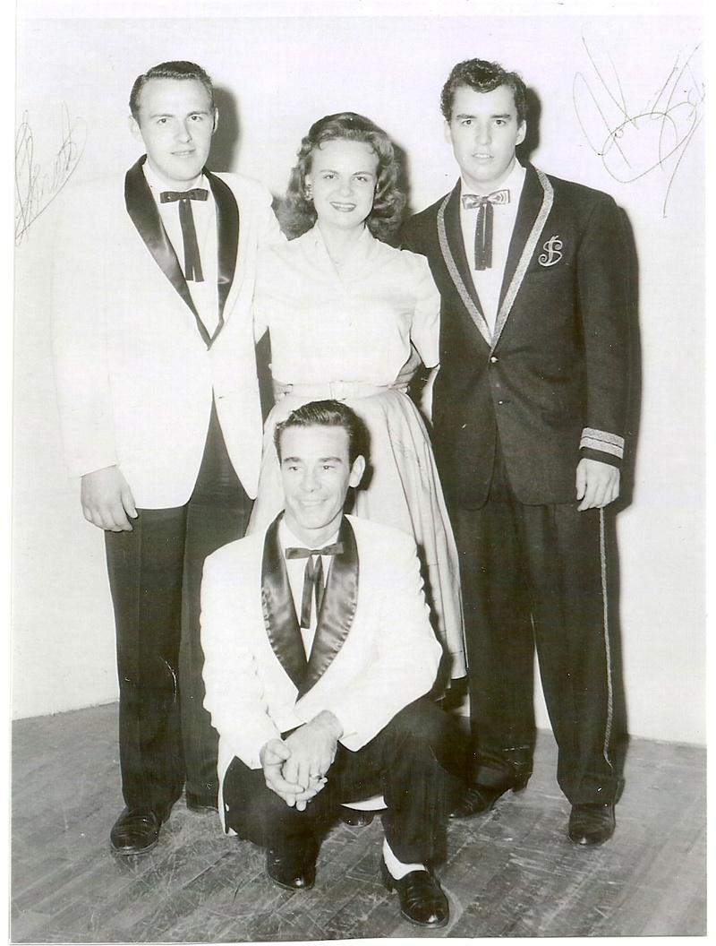 Back stage at the La. Hayride 1958.