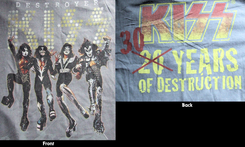 KISS Vintage Destroyer T-shirt