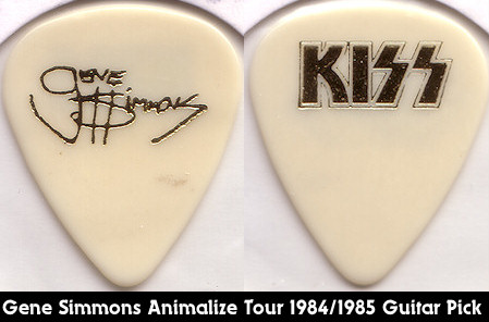 Gene Simmons Animalize Tour Guitar Pick