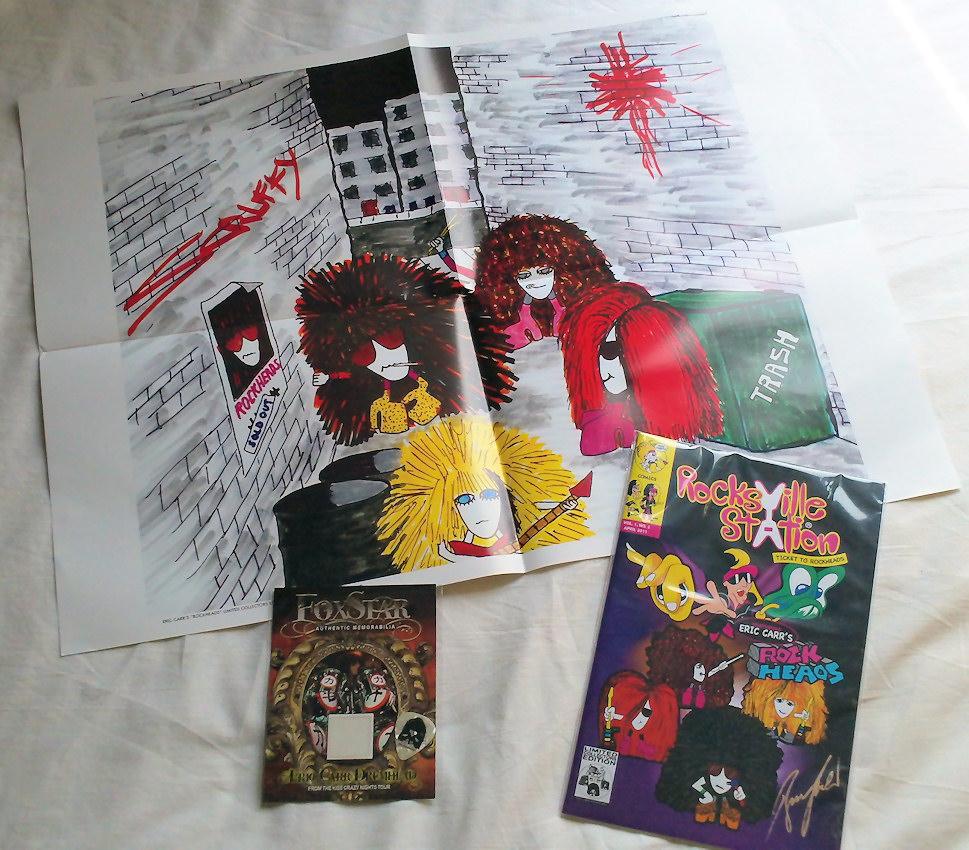 Eric Carr's Rockheads Comic & Drumhead skin
