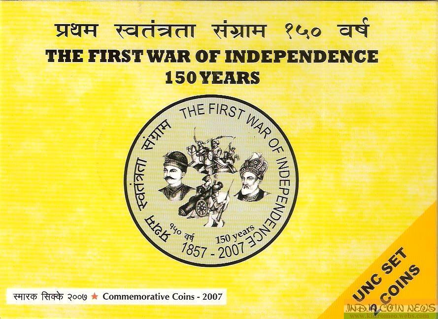 2007 'The First War Of Independence' UNC Set -Cover