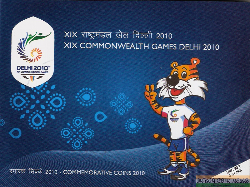 2010 'XIX Commonwealth Games' UNC Coin Set-Cover