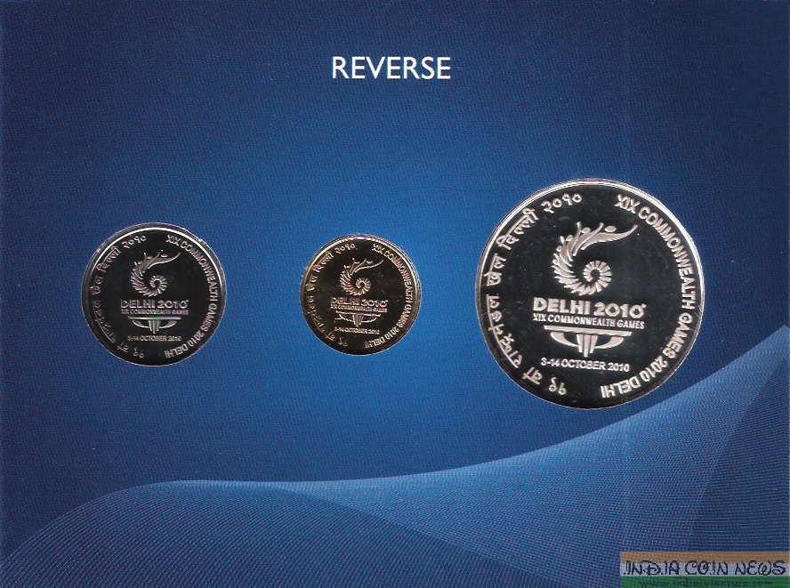 2010 'XIX Commonwealth Games' UNC Coin Set-Reverse