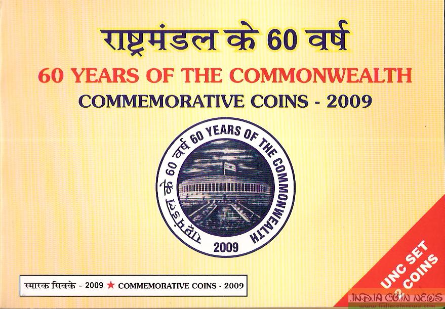 2009 '60 Years Of The Commonwealth' UNC Coin Set- Cover