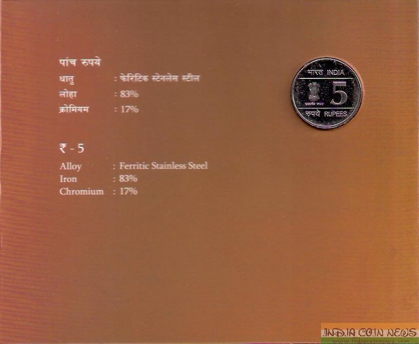 2007 'Shaheed Bhagat Singh Birth Centenary' UNC Set (Hyd Mint) - Obverse