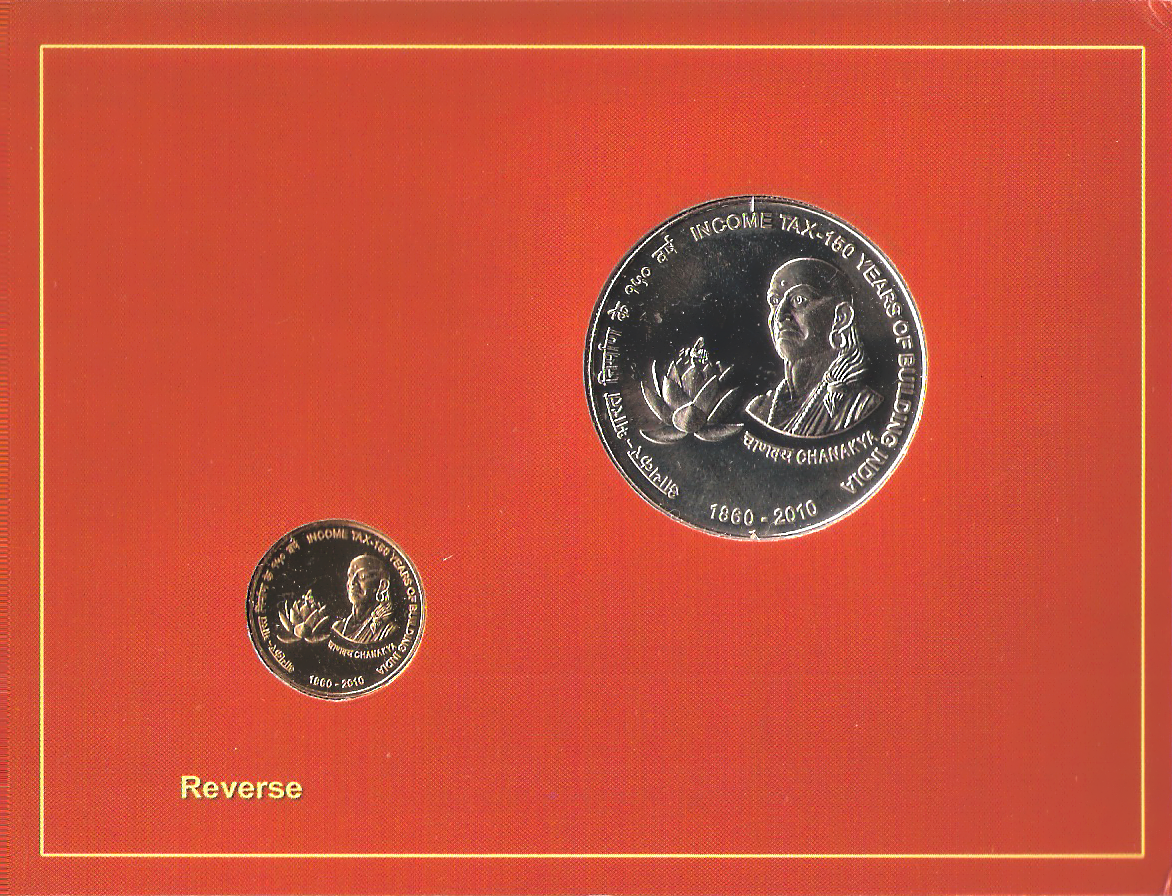 2010 'Income Tax-150 Years of Building India' UNC Set -Reverse