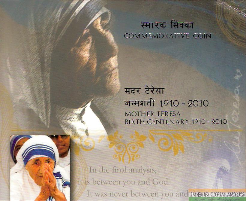 2010 'Mother Teresa Birth Centenary' UNC Set (Hyd Mint) -Folder