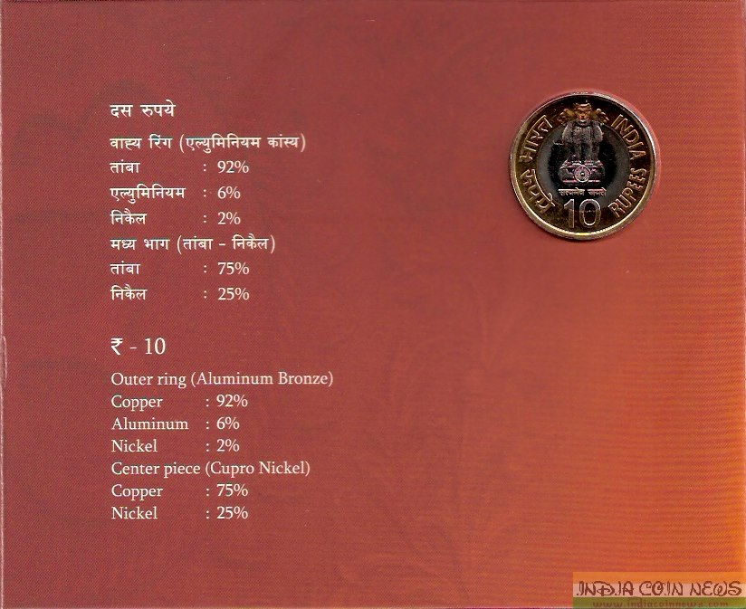 2008 'Ter-Centenary of Gur-Ta-Gaddi of Shri Guru Granth Sahib' UNC Set (Hyd Mint) - Obverse