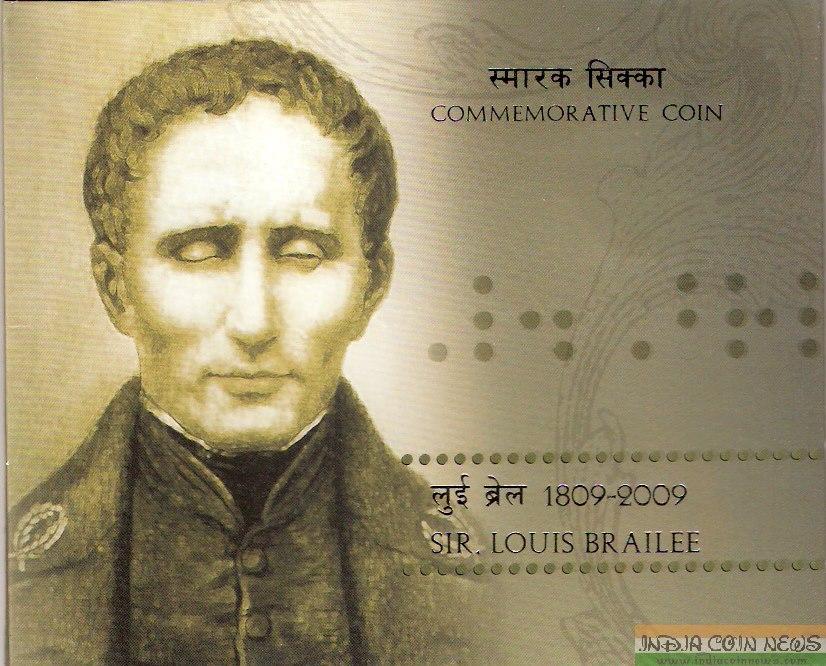 2009 'Sir Louis Braille' UNC Set (Hyd Mint) - Cover