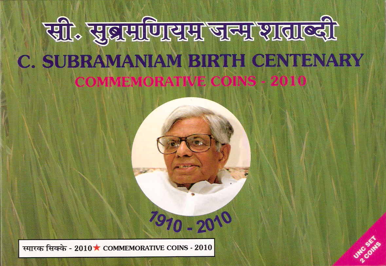"2010 ""C.Subramaniam Birth Centenary"" UNC Set - Folder"