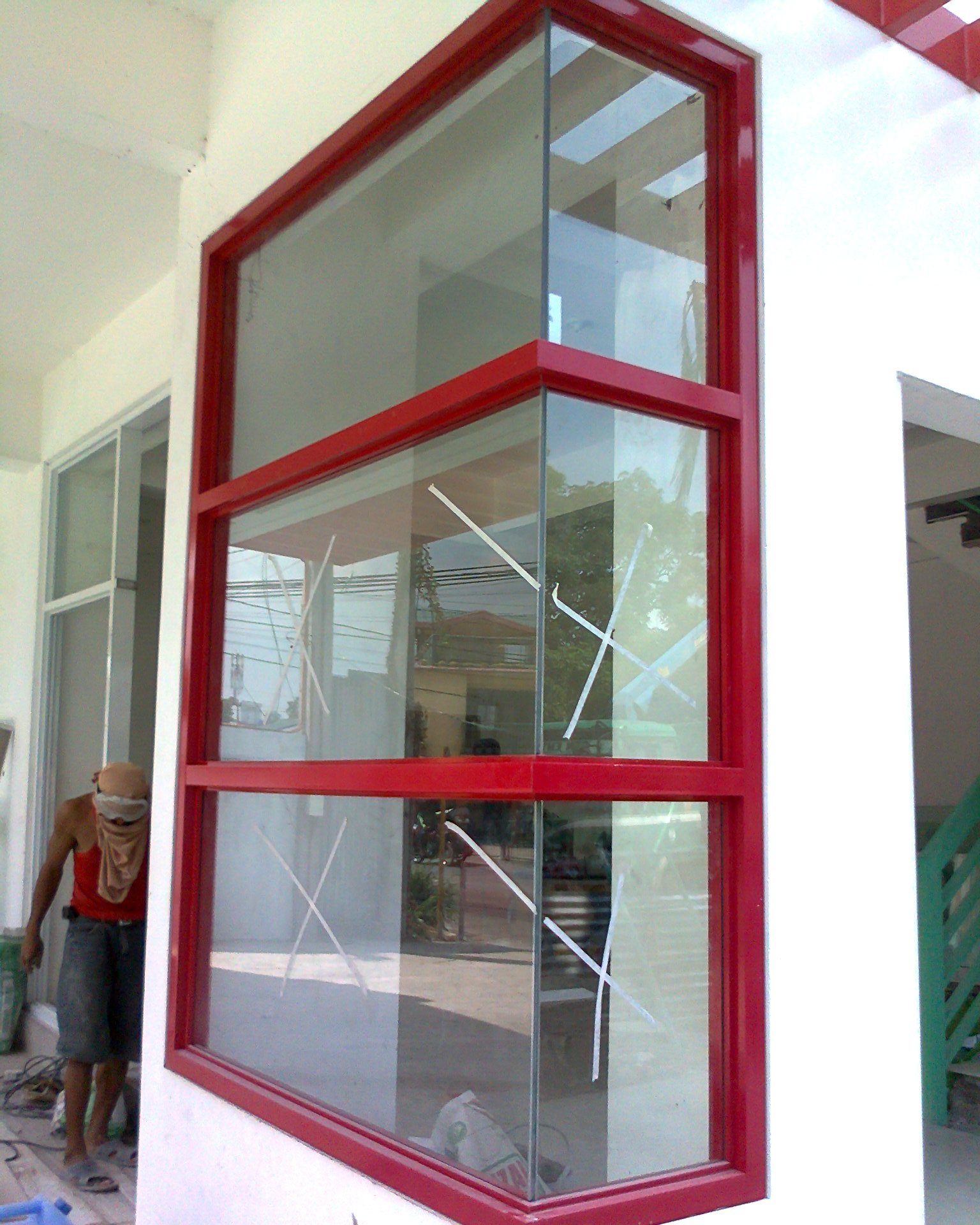 this fix type corner window is installed at one of our projects along
