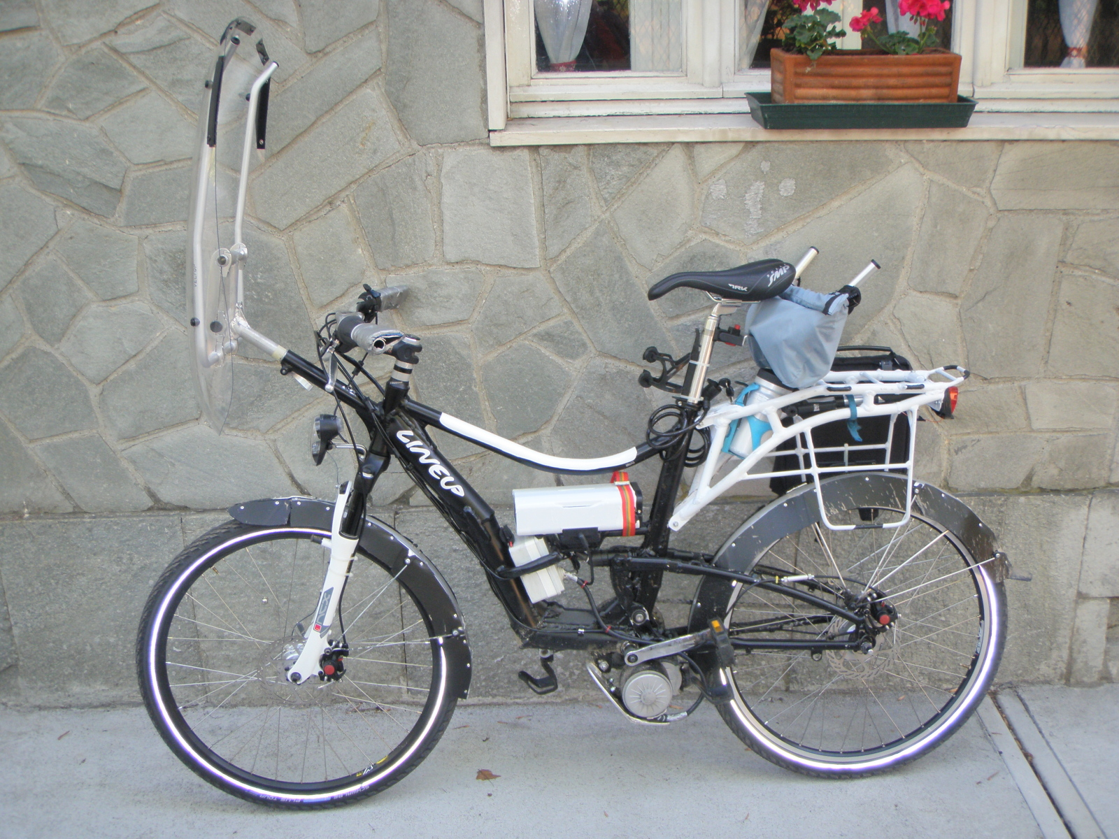 ebike with middle 350w36Vmotor kit