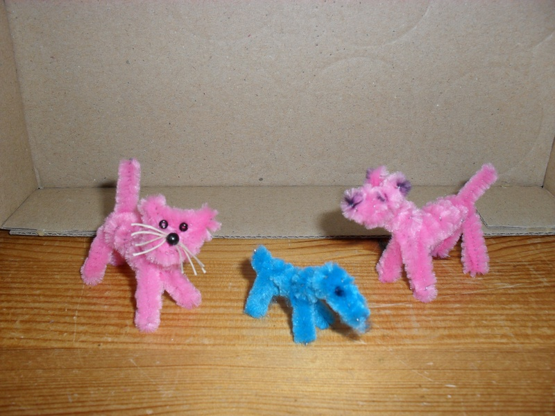 Pink & blue p/c animals