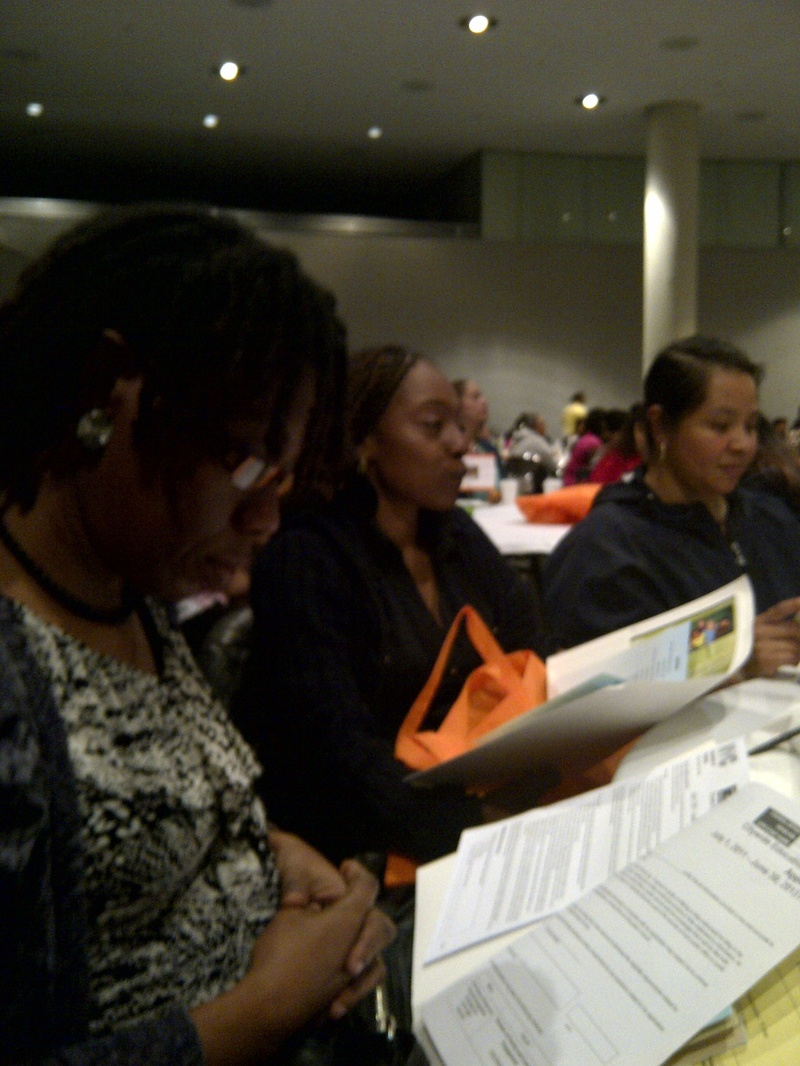 PARENTS  AT JACOB JAVITS CENTER LEARNING LEADERS CONFERENCE