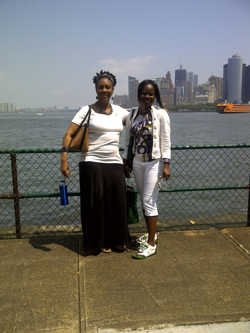 ME(PC) AND PARENT AT GOVERNORS ISLAND