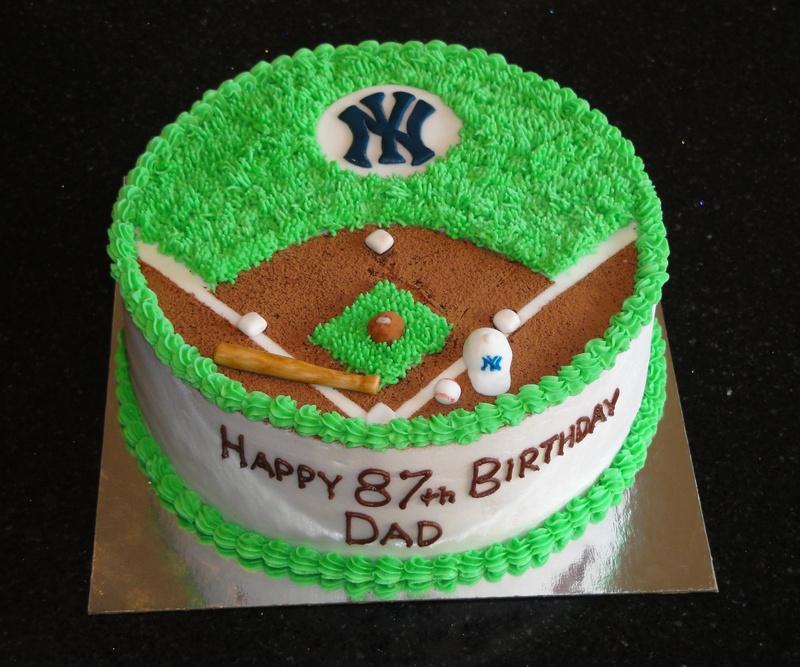 87 Birthday New York Yankees Cake